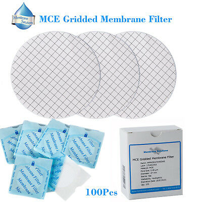 Sterile MCE Gridded Membrane Filter, 47mm, Pore:0.45 Micron by MS, 100 Packed