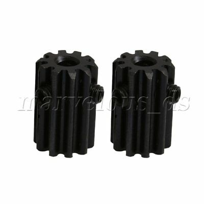 2pcs 10 Teeth Motor Metal Steel 1 Module Top Screws Gear Wheel 4mm Inner Hole