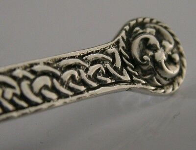 Scottish Arts And Crafts Solid Sterling Silver Caddy Spoon  1957 Iona Style