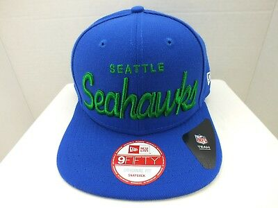 1d4cf3703fde9 SEATTLE Seahawks Hat Cap Retro SNAPBACK NEW ERA 9FIFTY MENS NFL FOOTBALL