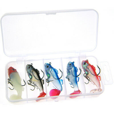 5 Pcs 6cm 8.5g Fishing lure Crankbaits Wobblers Lead Jig Rigged Baits Soft Lures