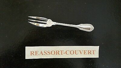 Fork A Cake Boulenger Gadroon Shell 14.5 Cm Silvered Metal 0401 17