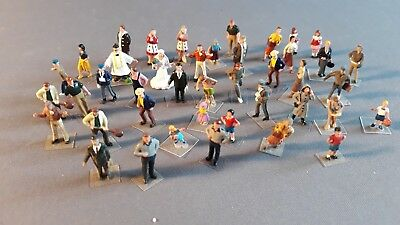Lot Of Plastic People Including Bride Etc Good Cond Unboxed Oo Ho Gauge(Dx)