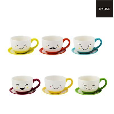 Ivyline Sow the Seed of Happiness Indoor Teacup & Saucer Plant Pot Planter