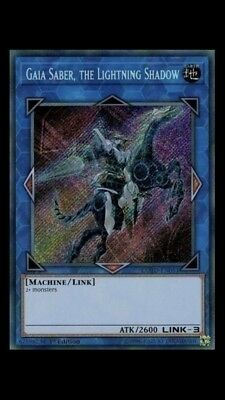Gaia Saber, The Lightning Shadow - COTD EN051 - Secret Rare - FREE SHIPPING