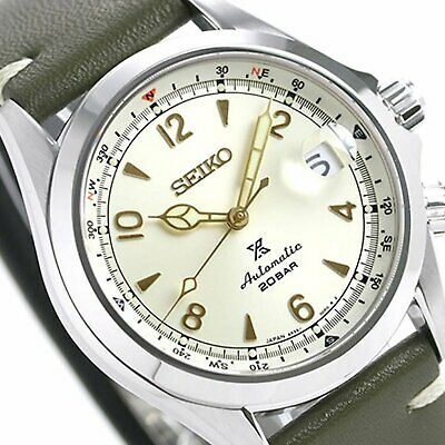 SEIKO SARB017 Mechanical Alpinist Automatic Men's Leather Watch JP *EU TAX FREE