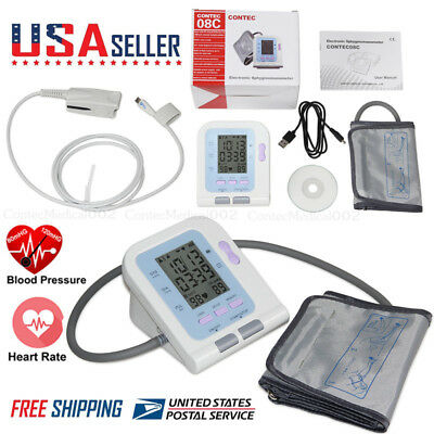 Blood Pressure Monitor BP Cuff Upper Arm SPO2 Oximeter Pulse Heart Rate Checker