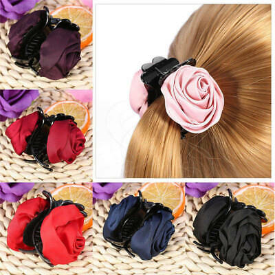 Large Rose Flower hair clip Hair Claw clip clamp Bow Jaw Clip Barrette Bridal