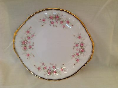 """Paragon Victoriana Rose Two Handled Cake Plate 10.25"""" Excellent Condition First"""