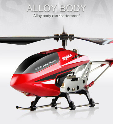 Original Syma RC Helicopter 3Ch S107W Remote Control Gyro LED Light Red Gift Toy