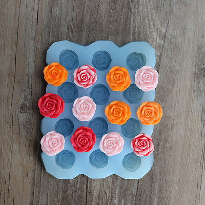 DIY Handmade 3D Rose Flower Soap Moulds Silicone Resin,Clay Crafts Molds Forms