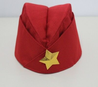 Soviet USSR Red Army WW2 Military Uniform Pilotka Hat Star Cap Russian Пилотка