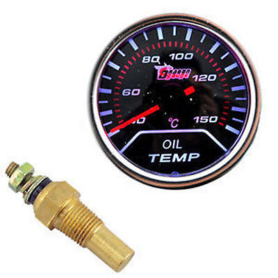"New Dragon 2"" 52m Tinted Smoke Len Oil Temp Temperature Gauge for Car Motor Auto"