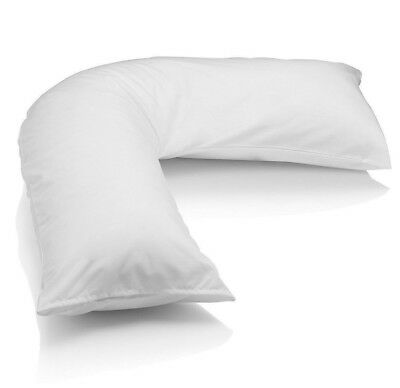 V Shaped Pregnancy Pillow Nursing Orthopaedic Support Maternity New Baby White