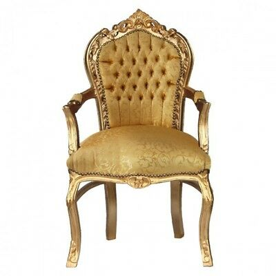 Gold Baroque carver dining chair for your dining table