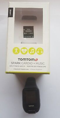 TomTom GPS Fitness Watch - Spark Cardio + Music (Large strap with built in HRM)