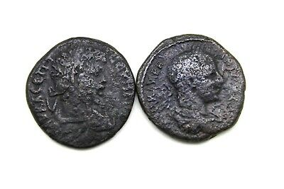 LOT OF TWO LATER ROMAN PROVINCIAL COINS.  1v640