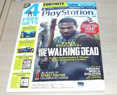 Playstation Official magazine UK #148 MAY 2018 The Walking Dead, Fortnite, COD &