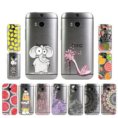 Soft TPU Silicone Case For HTC One M8 M8S Protective Back Covers Skins Clear