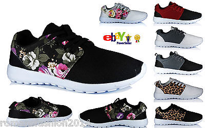 Womens Ladies Gym Jogging Trainers Sports Running Casual Pumps Shoes Size 345678