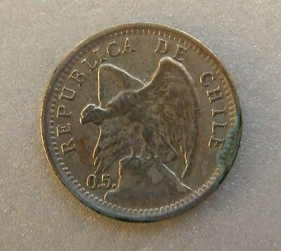Chile Coin 10 Cents Centavos 1907 21mm