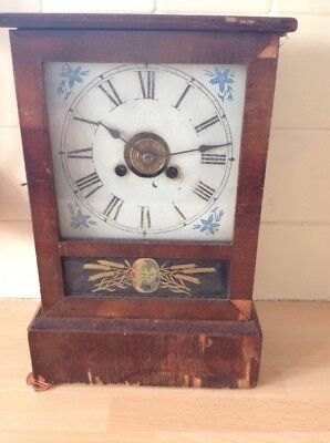 Antique American Jerome Mantle Clock With Alarm