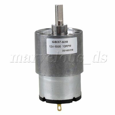 DC12V 10RPM No-load Speed Low Noise Miniature Metal Reduce Speed Electric Motor