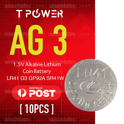 10x Naccon AG3 1.5V Cell Coin Alkaline Button Battery Batteries Stock in Melbour