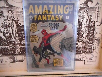 Amazing Fantasy 15 CGC 3.0 First Spider-Man Marvel Comics Spiderman NO CHIPPING!