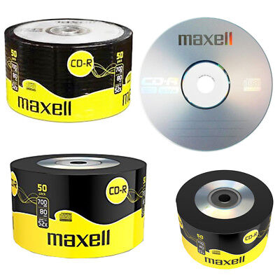 GENUINE MAXELL 50x CD-R BLANK RECORDABLE DISCS CDs MEDIA BLANK DISKS 52X SPEED