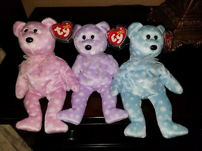Ty Beanie Baby Babies Rare Toast Fizz Bubbly Champagne Exclusive Bears MWMT!