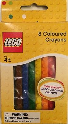 Lego 8 Coloured Crayons High quality Age 4+