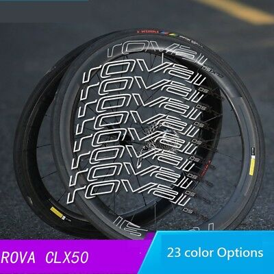 Roval CLX 50 Stickers Set for Two Carbon Wheels Road Bike C / Disc Brake Decals