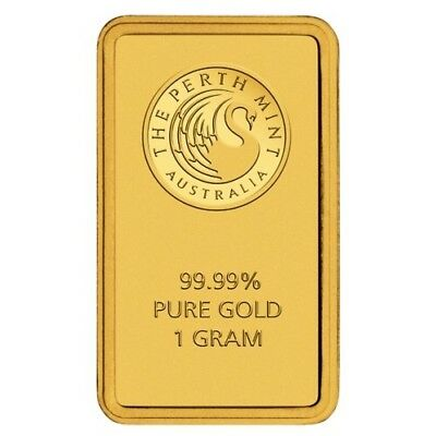 Perth Mint 1g Gram Gold Minted Bullion Bar