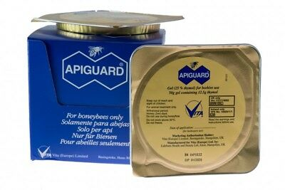 Apiguard One Tray For Varroa Mites Medication Natural For Nuc or hive