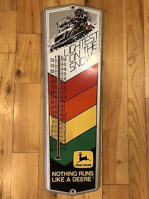 Vintage Snowmobile John Deere thermometer / Excellent condition