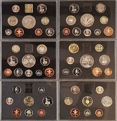 Royal Mint 1983 - 1999 Standard Proof Coin Sets Birthday Years Choose Your Year