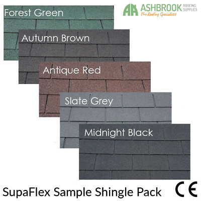 Felt Shingles Sample Pack | Colour Samples | Shed Felt Tiles | SupaFlex Shingles