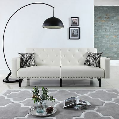 Astonishing Modern Tufted Bonded Leather Sleeper Futon Sofa With Forskolin Free Trial Chair Design Images Forskolin Free Trialorg