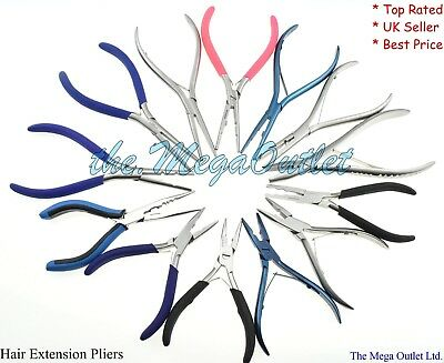 Professional Hair Extension Pliers for Silicone Micro Rings Beads Loop Tool Kit
