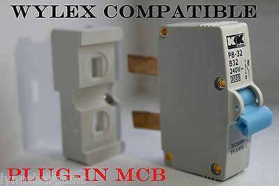 Wylex Plug-In MCB   6 Amp   16 Amp   32 Amp   Fully Compatible Trip Switch
