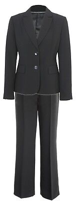 Womens Size 10 12 14 New Black Lined Blazer With Trouser Suit Ladies UK Seller