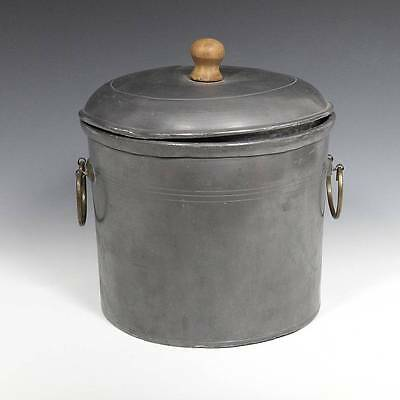 Vintage Pewter Tea Caddy Canister Fujian Province China Early 20Th C.