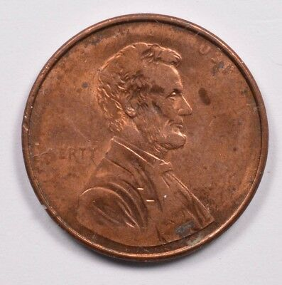 1c Lincoln Cent Struck Thru Grease Obverse & Reverse