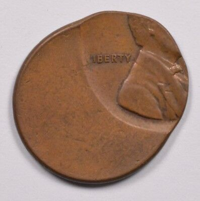 1c Lincoln Cent Struck 65% Off-Center UNC Brown