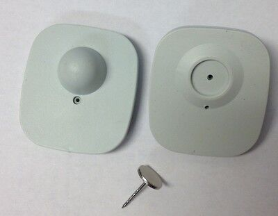 500pcs of Shoplifting EAS Compatible 8.2MHz Tags(Gray) with 16mm Grooves Pin