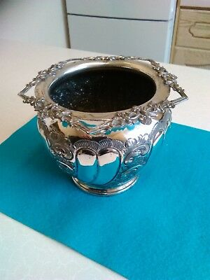 Late 19th Century Silver Plated Pot (535)