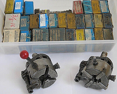 Lot of 2 geometric type Threading Heads +31 various Chaser Die Sets - See list