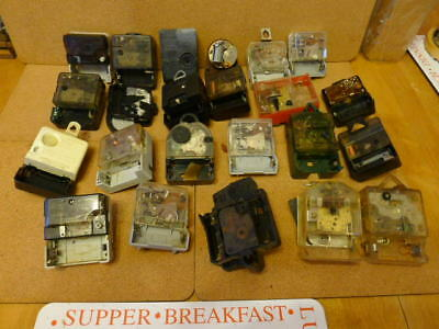 23 x Electro Mechanical Battery Movements mainly Jewelled...Spares or repairs..