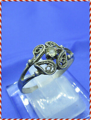 ANCIENT SILVER byzantine or medieval RING !!!